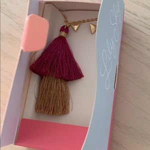 Lily Sky Tassel Long Necklace and Earrings